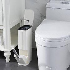 großhandel baffect narrow badezimmer mülleimer abfalleimer zero waste bin toilettenbürste müllsackhalter aus kunststoff mülltonne zj0251