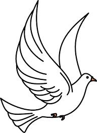 Flying Dove clip art