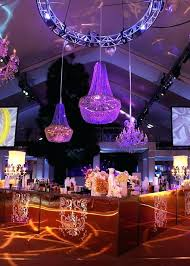Wedding Decor Rentals Mirrored Bar With Chandeliers And Movie Screens Charlotte