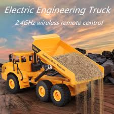 100 Kids Dump Truck ZO 24Ghz RC Remote Control Electric Engineering Toy Model