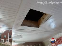 Ceiling Cassette For Mr Slim Mini Split by Ductless Cooling System Leesburg Alexandria Winchester Me Flow