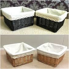 2x klein weidenkorb gefüttert geschenk korb badezimmer