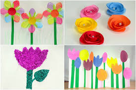 DIY Images Of Paper Flower Making For Kids