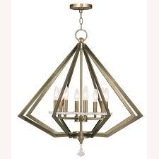 Livex Lighting Diamond 8 Light Antique Brass Chandelier 01