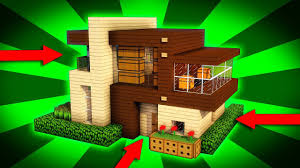 100 Modern Wooden Houses Minecraft How To Build A House Tutorial 1 Easy House