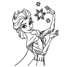 Coloring Pages Of Elsa During Christmas With Snowflakes