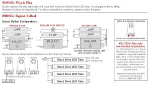 4 Lamp T12 Ballast Wiring Diagram by Keystone 4 U0027 Combo Drive 15w Glass Coated T8 Led Tube Bypass Direct