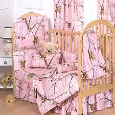 realtree ap pink camo baby crib set 7pc