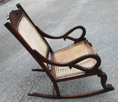 Antique Barbados Mahogany Rocking Chair With Caned Bottom ...