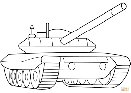 Click The Military Armored Tank Coloring Pages