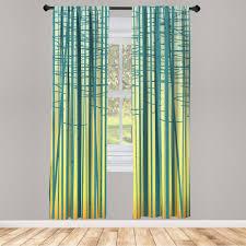 gardine fensterbehandlungen 2 panel set für wohnzimmer schlafzimmer dekor abakuhaus abstrakt wald baum ast sonnenuntergang kaufen otto