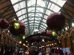 Apple market decorations Covent Garden Christmas