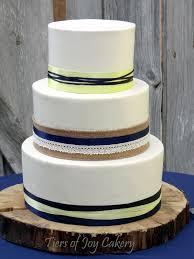 Tiers Of Joy Cakery Navy Blue Yellow Rustic Wedding Cake