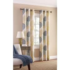 Brylane Home Grommet Curtains by Blue Sheer Curtains Elegant Pattern Print Blue Window Curtains