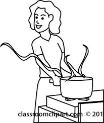 clip art cooking outline