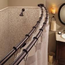 Amazon Double Curtain Rods by Amazon Com Bennington Adjustable Double Curved Shower Curtain Rod