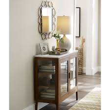 Crate And Barrel Desk Lamp by Honed White Marble Top Nut Brown Stained Oak Entryway Cabinet