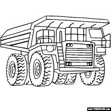 Mega Dump Truck Online Coloring Page