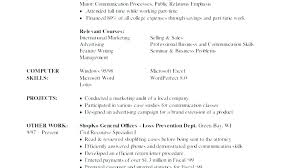 Resume Computer Skills Example List Examples Sample For Retail