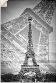 artland wandbild der doppelte eiffelturm ii 1 st in vielen größen produktarten alubild outdoorbild für den außenbereich leinwandbild