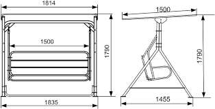 Mounting Dimensions Of The Frame Garden Swing Profile Tubes