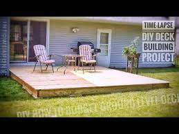 diy deck time lapse building a ground level deck