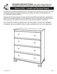 4 drawer dresser 5522 assembly and operation davinci baby