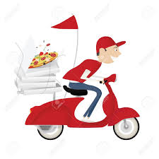 Fast Delivery Boy Clipart Scooter