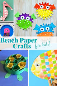 There Is Something About Beach Paper Crafts That Screams Summer From Fish