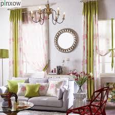 blume fenster vorhänge maßgeschneiderte schlafzimmer vorhang stoffe rosa vorhänge wohnzimmer grün fenster behandlung panels pastoralen jalousien