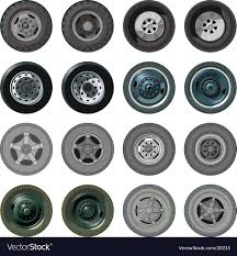 Truck Wheels Set Royalty Free Vector Image - VectorStock Things To Consider When Shopping For Truck Rims Get Latest Vehicle Predator By Black Rhino Harley Davidson Preowned Ford F150 Wheels Built Hot Monster Jam Grave Digger Shop Cars Niche Chevy Magliner 10 In X 312 Hand Wheel 4ply Pneumatic With Photos Of Tuff Trucks Aftermarket 4x4 Lifted Weld Racing Xt Martin Flat Free 214 58 Off Road And Peak