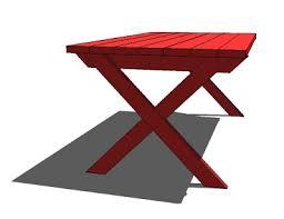 ana white vanessa u0027s x picnic table diy projects