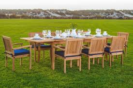 Smith And Hawken Teak Patio Chairs by Amazon Com New 9 Pc Luxurious Grade A Teak Dining Set 94