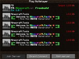 Message Of The Day For Minecraft Server