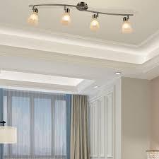 costway led deckenleuchte drehbar 4 flammig deckenle schwenkbar leuchten decken strahler fuer schlafzimmer wohnzimmer 9w e14