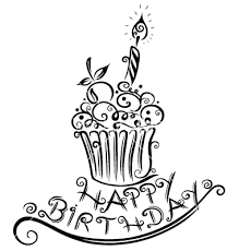 Drawn birthday birthday cupcake 1