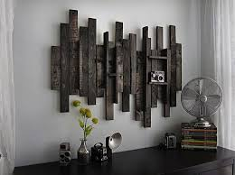 DIY Wall Art Using Recycled Wood Pieces Use A Supporting Board On The Back Rustic DecorRustic