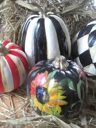 Mackenzie Childs Painted Pumpkins painted pumpkins fall decoration mantle decor halloween decor
