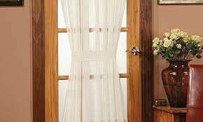 curtains semi sheer door panel curtains modern country