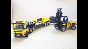 100 Lego Remote Control Truck IR RC Forklift And With Trailer YouTube