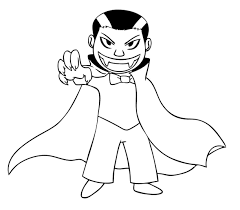 Vampire Coloring Pages Great