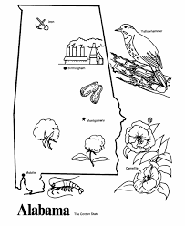 Alabama State Outline Coloring Page