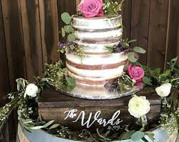 Custom Cake Stand Cupcake Rustic Wood Wedding