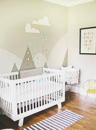 chambre montagne déco montagne dans la chambre de bébé