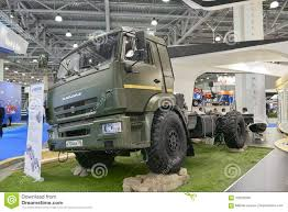 100 Trucks In The Mud MOSCOW SEP 5 2017 View On Kamaz Race Offroad Truck Exhibit