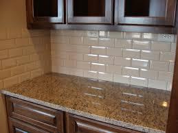 kitchen backsplash beveled subway tile beveled and unbeveled