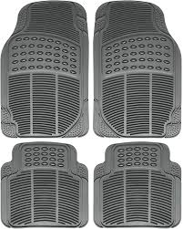 OxGord 4-Piece Full Set Ridged Heavy Duty Rubber Floor Mats ... Universal Fit 3piece Full Set Ridged Heavy Duty Rubber Floor Mat Armor All Black 19 In X 29 Car 4piece John Deere Vinyl 31 18 Mat0326r01 Bestfh Truck Tan Seat Covers With Combo Alterations Mats Red Metallic Design On Vehicle Beautiful For Weather Toughpro Infiniti G37 Whosale Custom For Subaru Forester Legacy 19752005 Bmw 3series Husky Liners Heavyduty