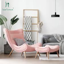 louis mode einzelnen sofa nordic stil wohnzimmer möbel rosa kleine schnecke stuhl moderne einfache tuch kunst tiger stuhl