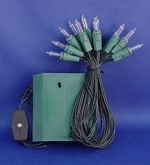 KSA Clear Mini Lights Battery Operated