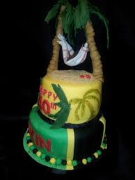 40Th Birthday Cake Jamaican Themed CakeCentral